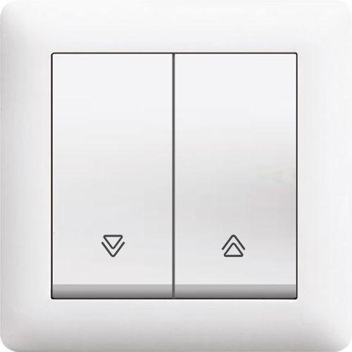 ABDECKSTECKDOSE ( Einsatz + Deckel ) KAREA Alpinweiss