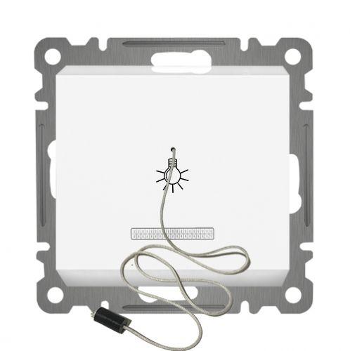 ZUGSCHALTER MIT LED ( Einsatz + Wippe ) LUNIS Alpinweiss