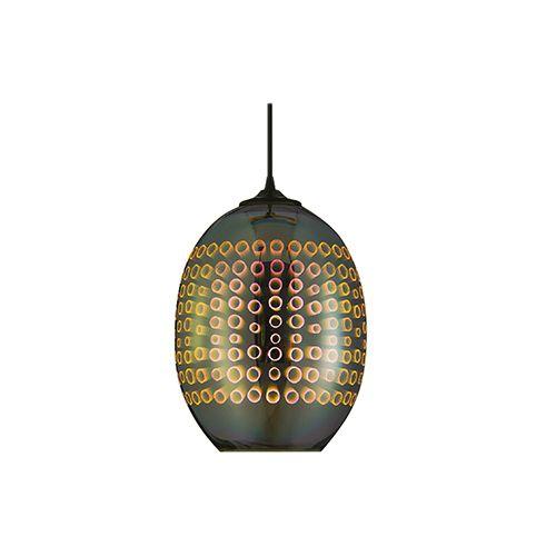 RADIAN RUND CHROM SPECTRUM E27 3D PENDAENT LAMP