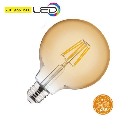6W 2200K E27 LED Vintage Lampe Filament Leuchte - RUSTIC GLOBE-6