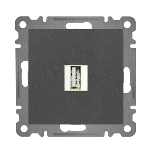 USB STECKDOSE NETZTEIL LADEGERÄT   ( Einsatz + Deckel ) LUNIS ANTHRAZIT