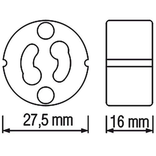Kopie von HL551  - GU10 Fassung Lampenfassung Sockel Keramik Halogen LED Strahler 230V