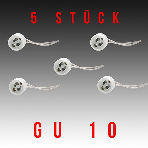 Kopie von 5 Stück HL551 - GU10 Fassung Lampenfassung Sockel Keramik Halogen LED Strahler 230V