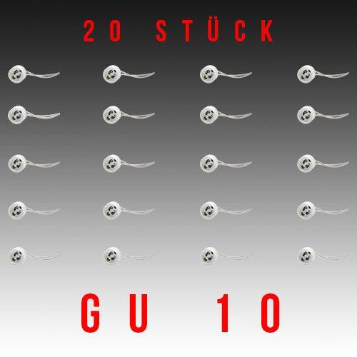 Kopie von 20 Stück HL551 - GU10 Fassung Lampenfassung Sockel Keramik Halogen LED Strahler 230V