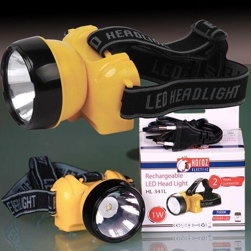 LED Stirnlampe Kopflampe Stirnleuchte 1W 7000K mit AKKU CREE HL341L