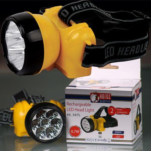 LED Stirnlampe Kopflampe Stirnleuchte 0,7W 9000K mit AKKU CREE HL347L
