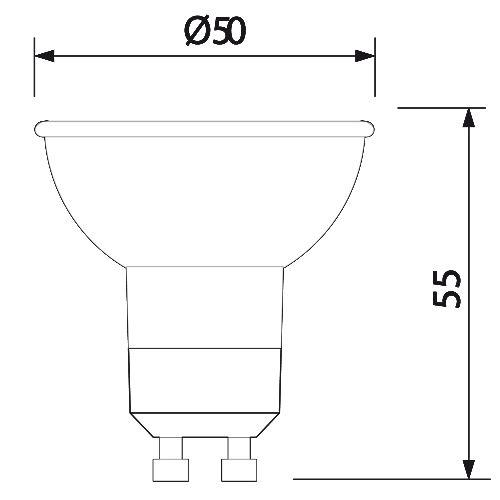 LED STRAHLER SPOT GU10 6W LEUCHTMITTEL SMD-LED