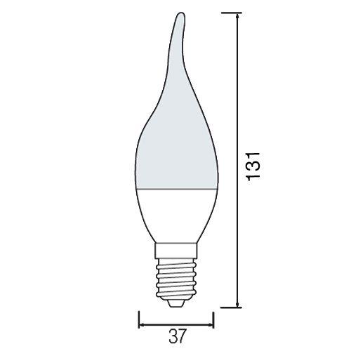 LED LEUCHTMITTEL E14 3,5W WINDSTOSS BIRNE HL4370