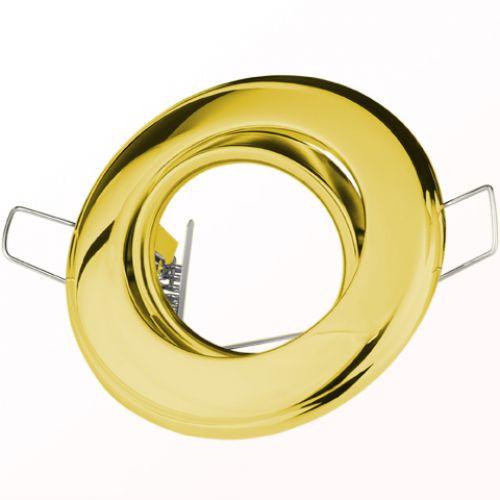 EINBAUSPOT GOLD SCHWENKBAR MIT 35W Halogen Leuchtmittel GU10 HL750