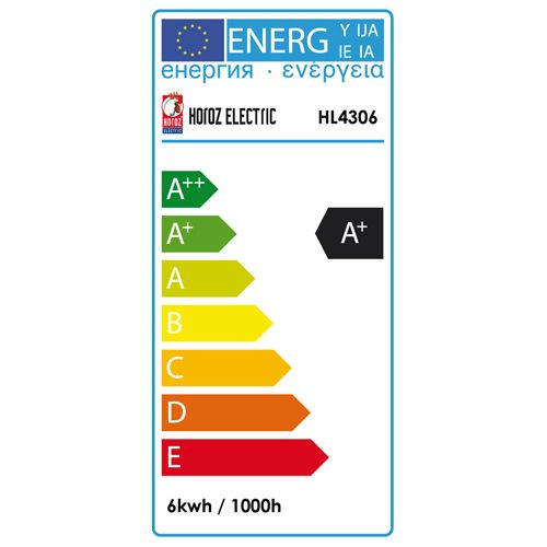 10x HL4306L LED Lampe Birnen Leuchtmittel E27, 6W, kaltweiss