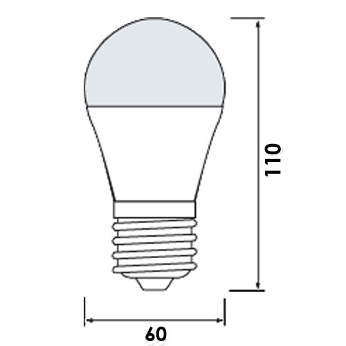 10x HL4308L LED Lampe Birnen Leuchtmittel E27, 8W, kaltweiss